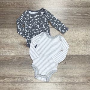 Lamaze Organic Long Sleeve Onesie Bundle Grey Bear